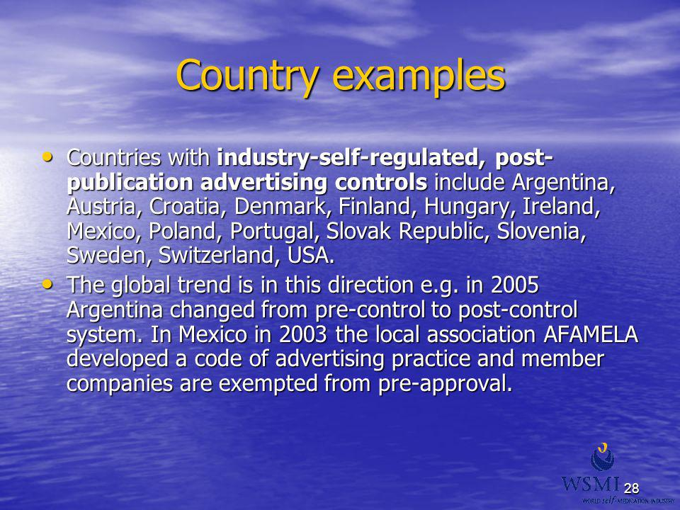 Country examples
