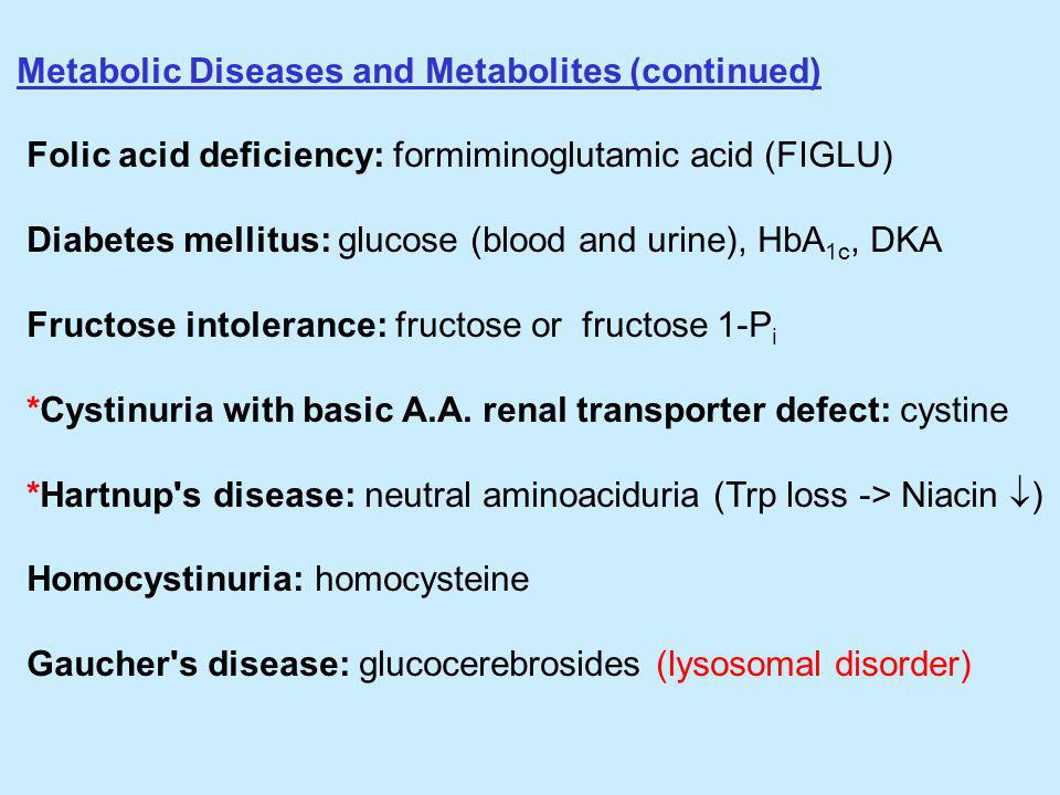 Metabolic Diseases and Metabolites (continued)