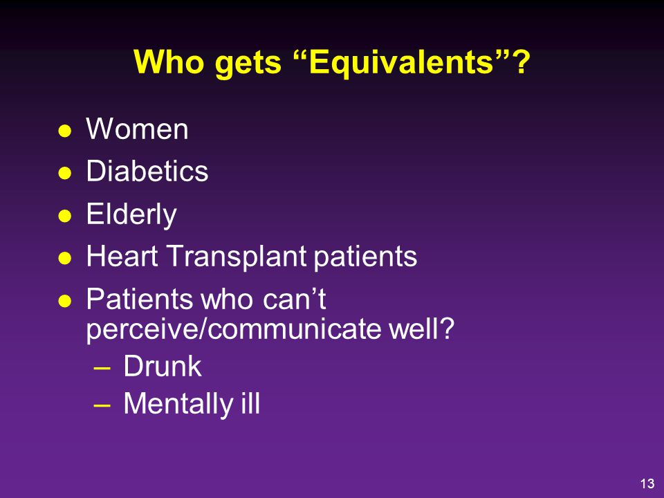 Who gets Equivalents