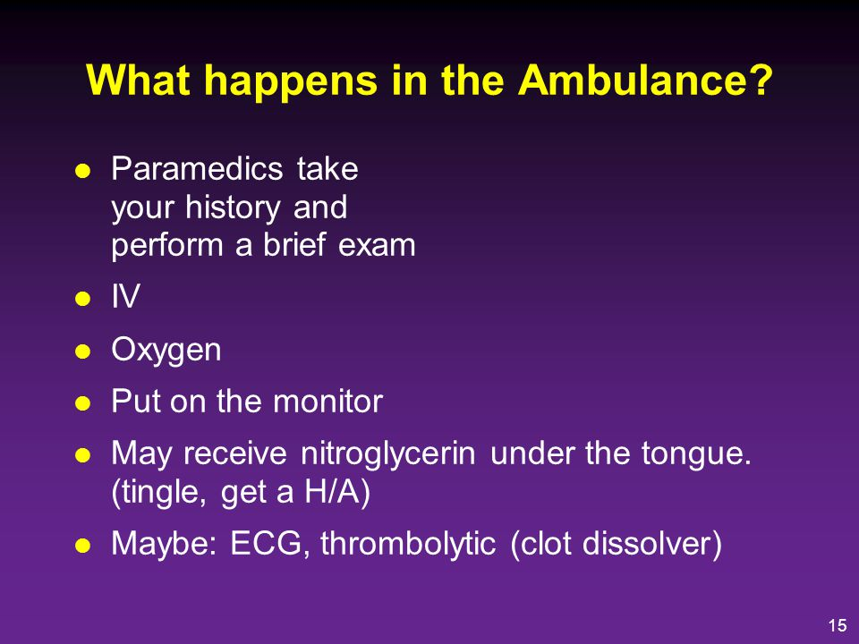 What happens in the Ambulance
