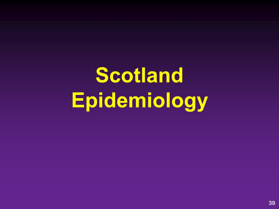 Scotland Epidemiology