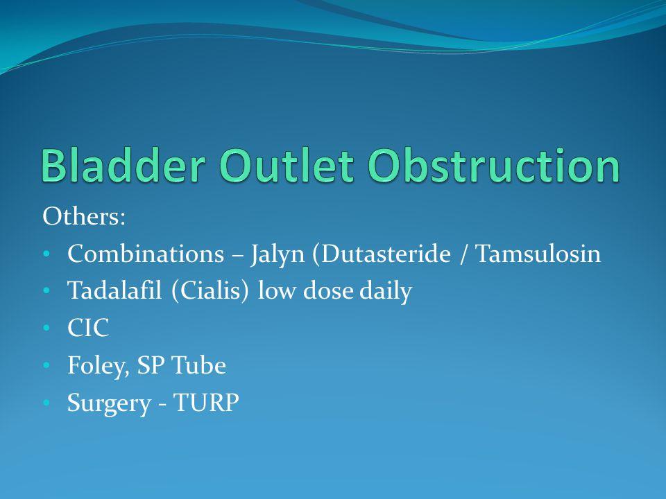 Bladder Outlet Obstruction