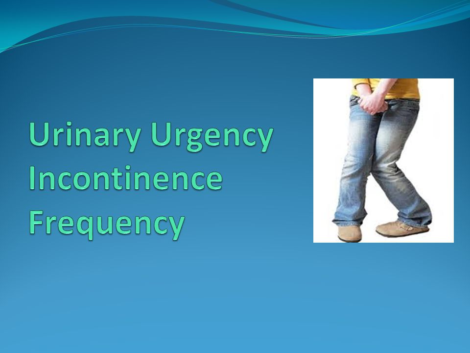 Urinary Urgency Incontinence Frequency