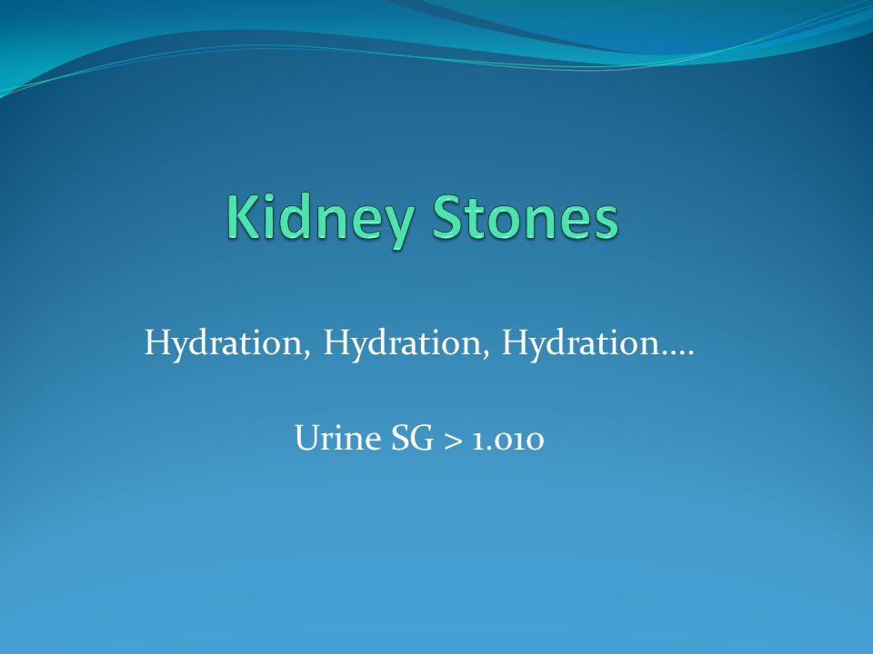 Hydration, Hydration, Hydration….