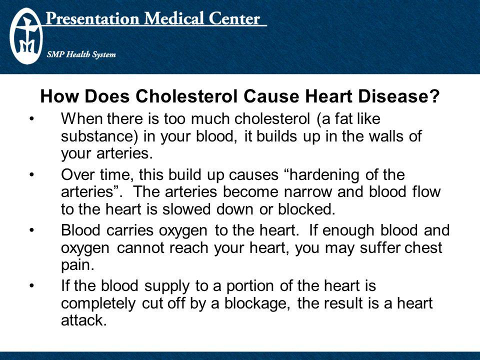 How Does Cholesterol Cause Heart Disease