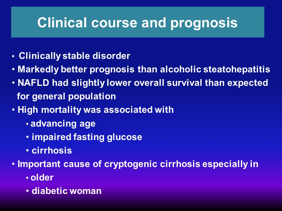 Clinical course and prognosis
