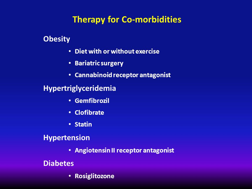 Therapy for Co-morbidities
