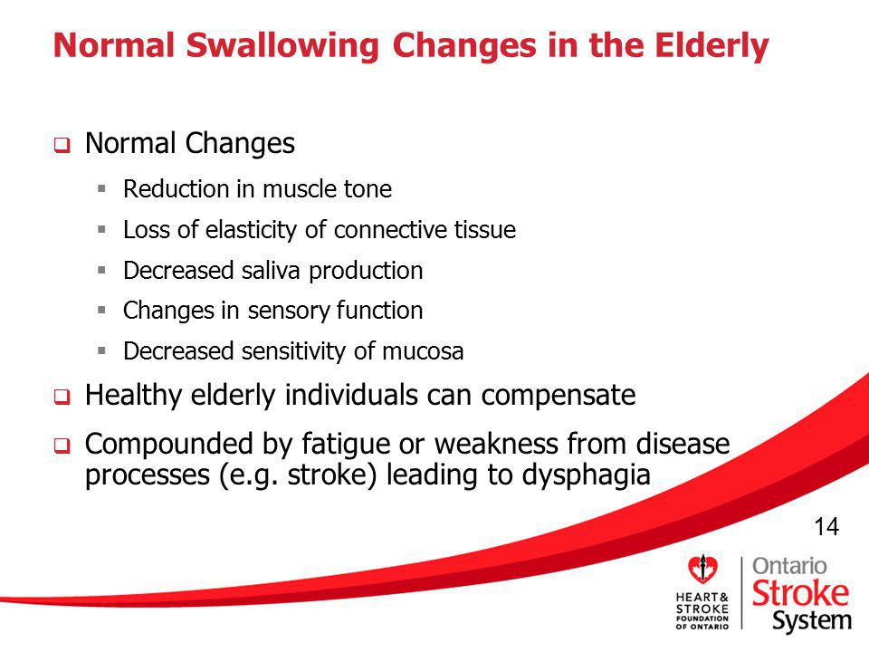 Normal Swallowing Changes in the Elderly