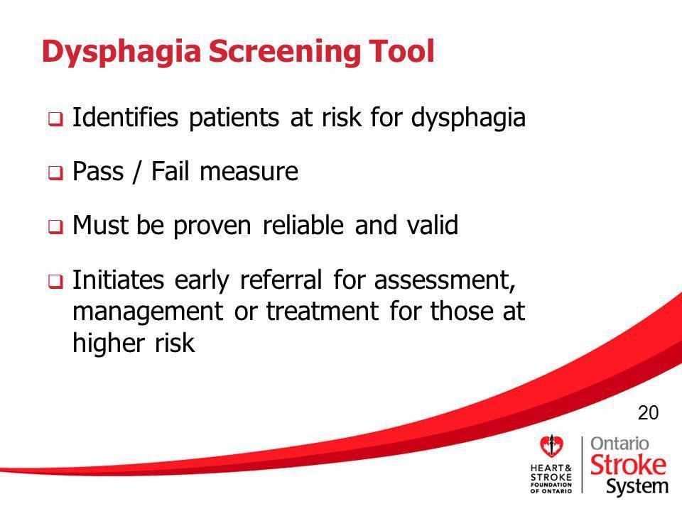 Dysphagia Screening Tool