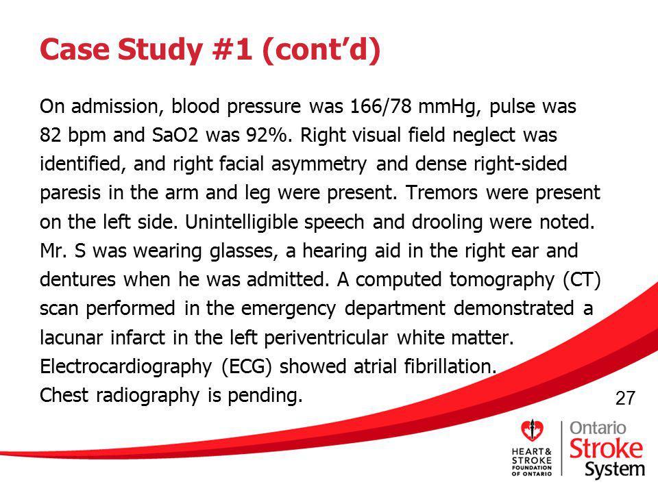 Case Study #1 (cont'd)
