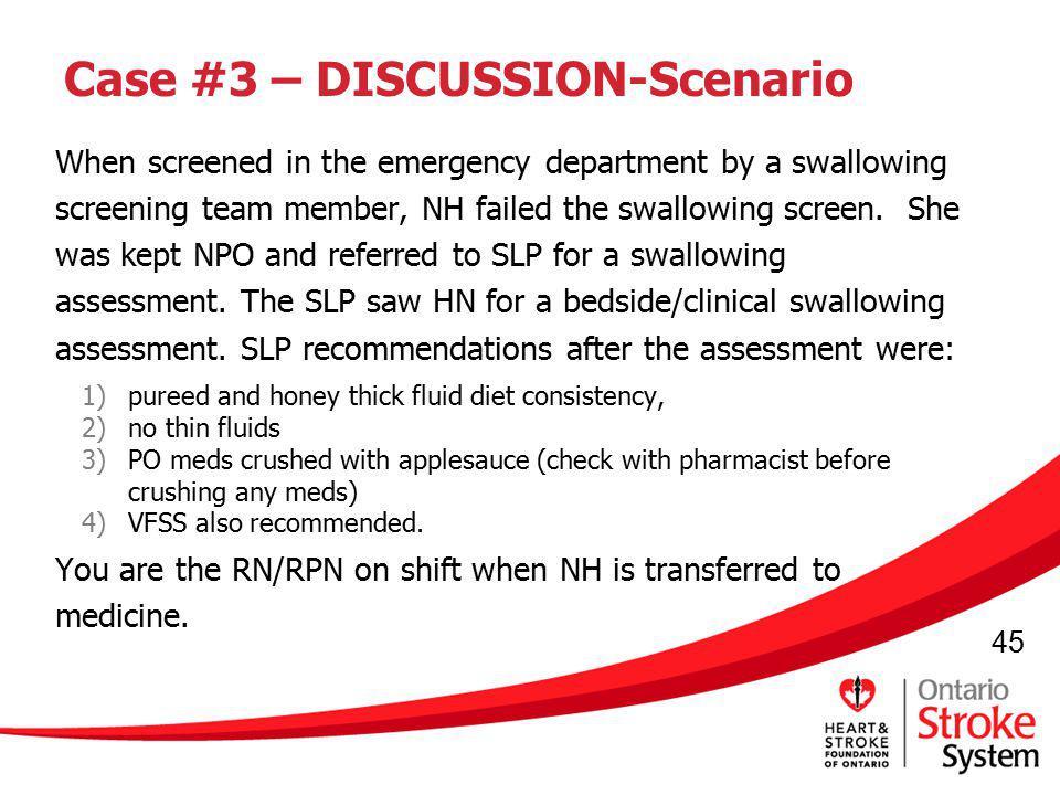 Case #3 – DISCUSSION-Scenario