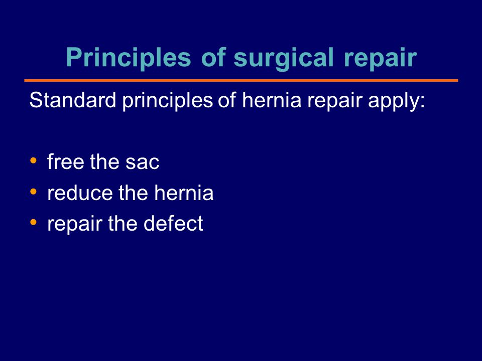 Principles of surgical repair