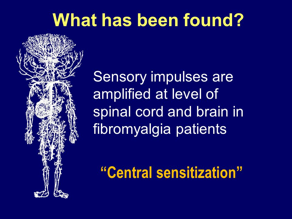 What has been found Central sensitization