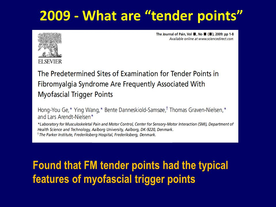 2009 - What are tender points