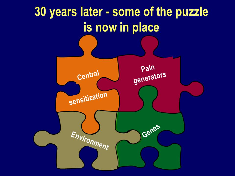 30 years later - some of the puzzle is now in place