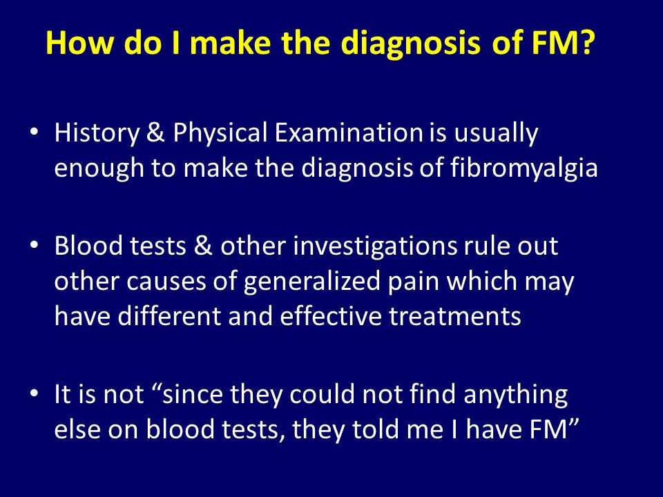 How do I make the diagnosis of FM