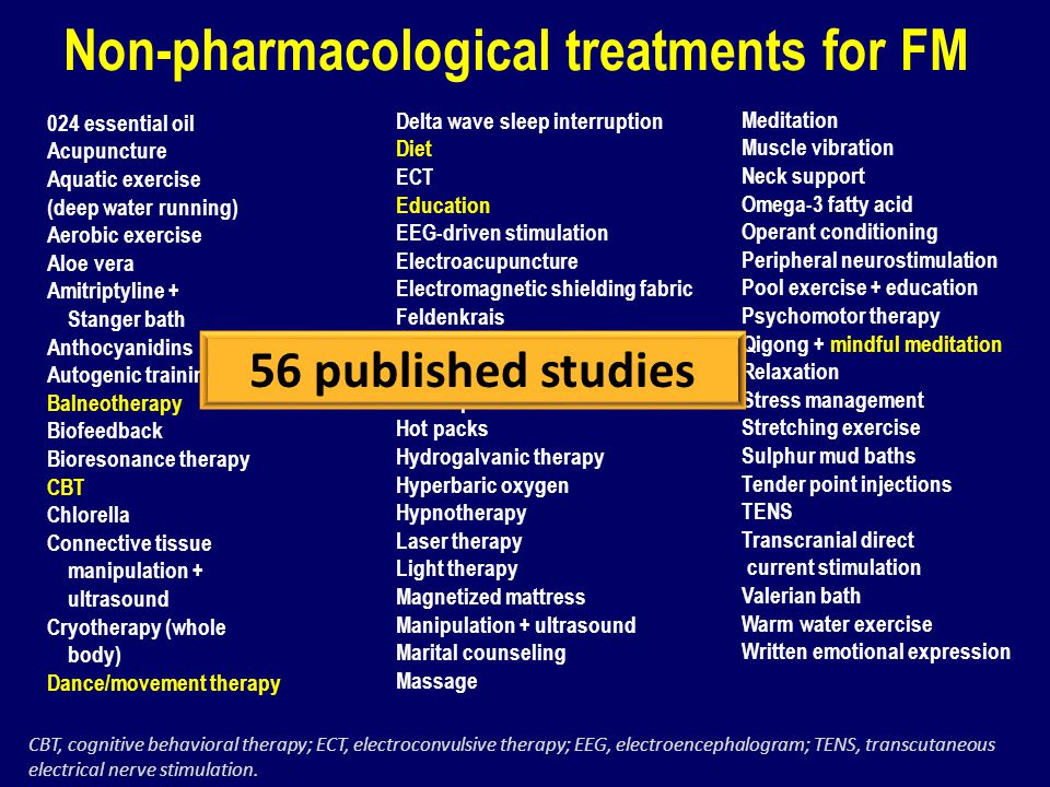 Non-pharmacological treatments for FM