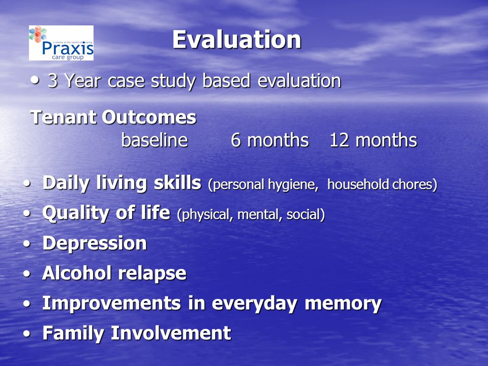 Evaluation 3 Year case study based evaluation Tenant Outcomes