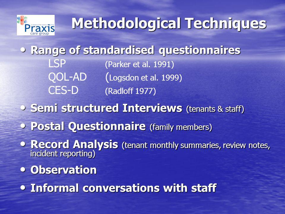 Methodological Techniques