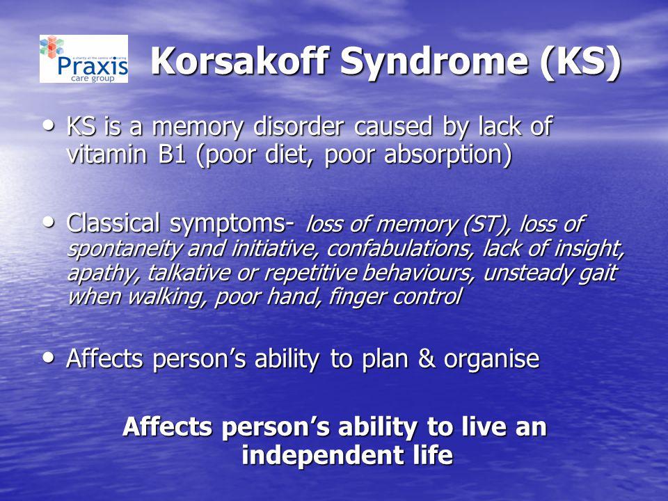 Korsakoff Syndrome (KS)
