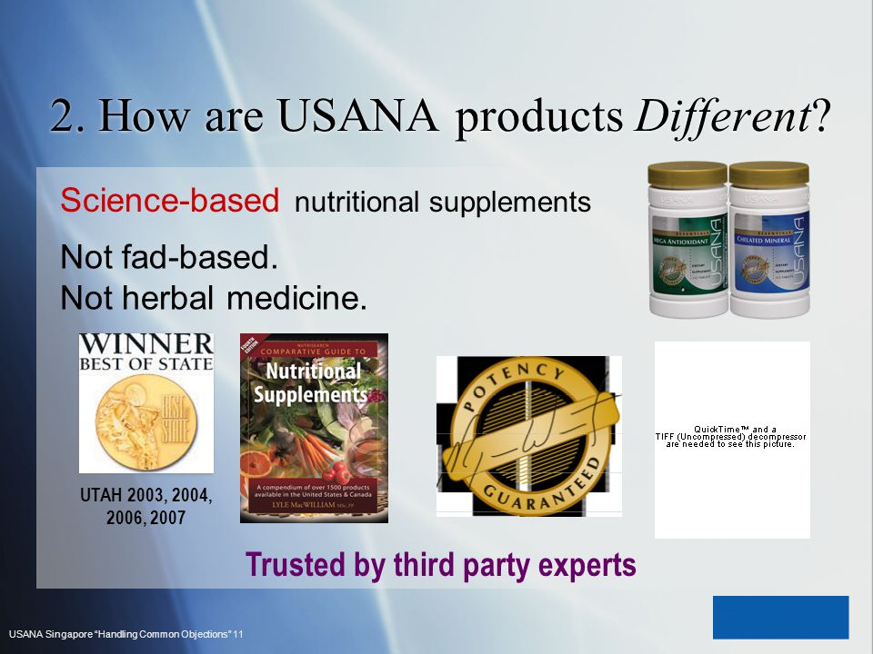 2. How are USANA products Different