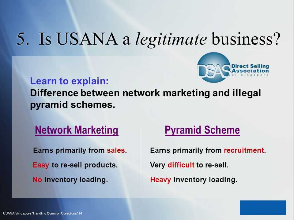 5. Is USANA a legitimate business