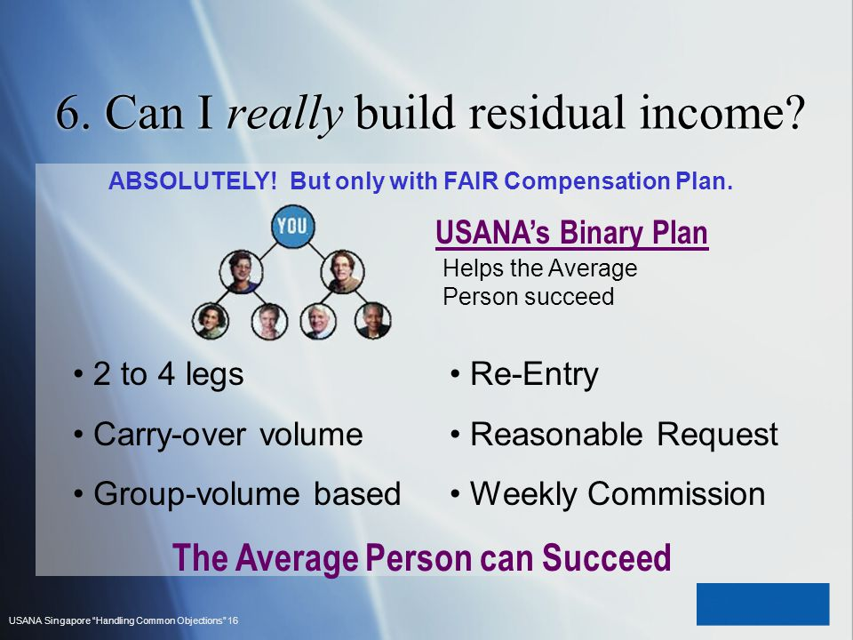 6. Can I really build residual income