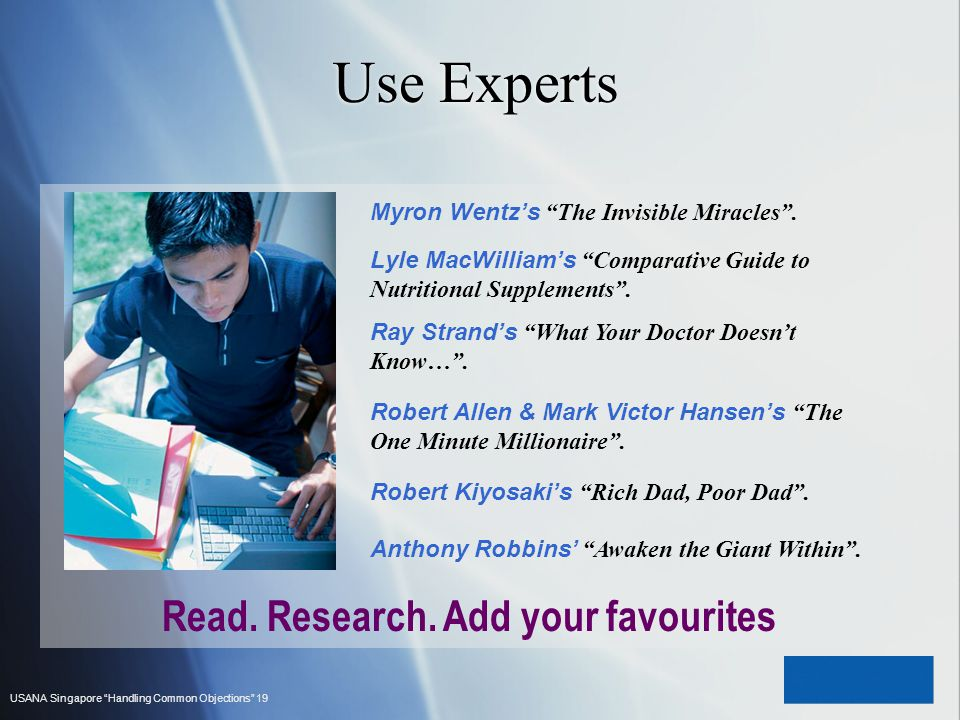 Use Experts Read. Research. Add your favourites