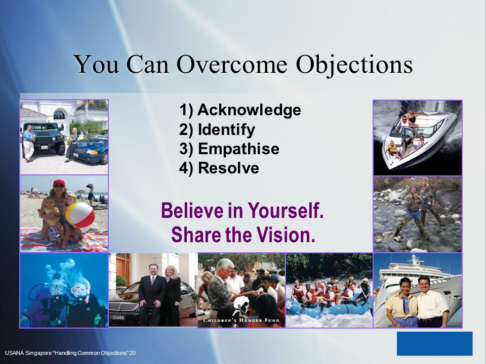You Can Overcome Objections