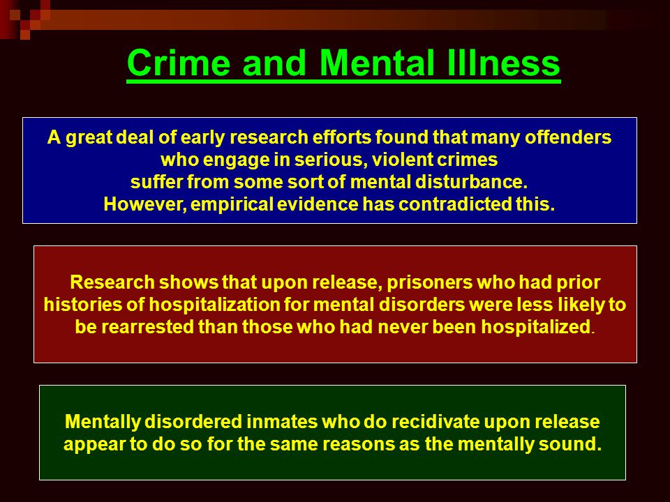 Crime and Mental Illness
