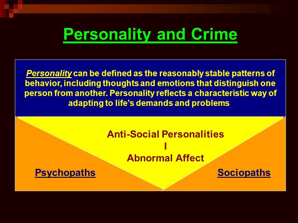 Anti-Social Personalities