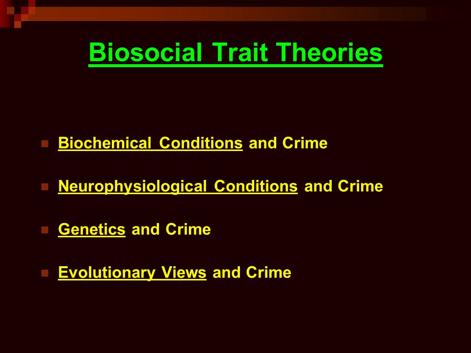 Biosocial Trait Theories
