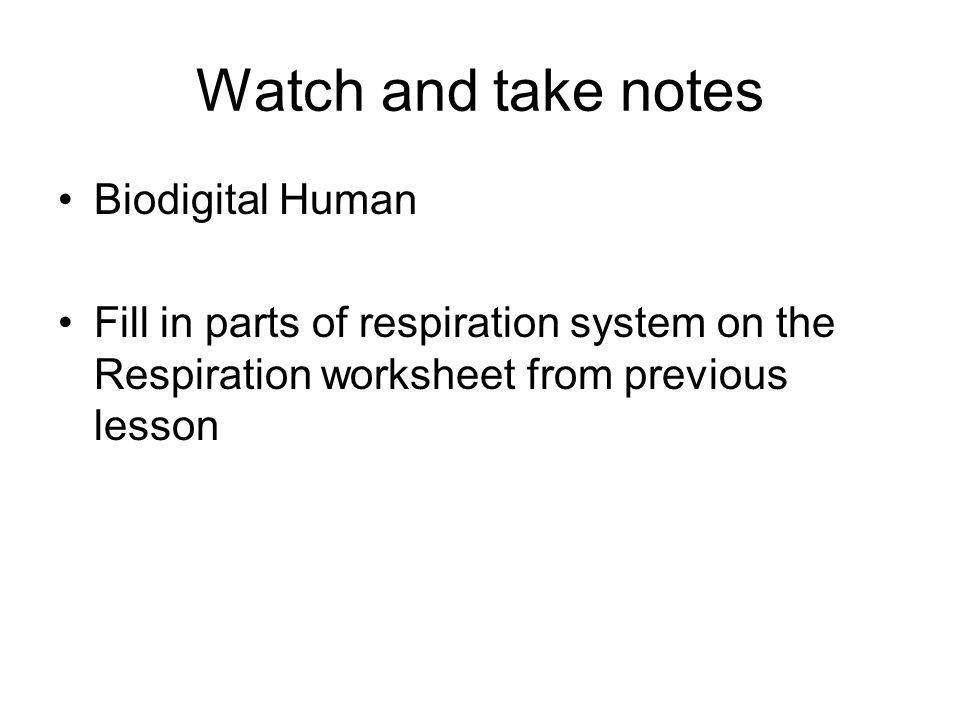 Watch and take notes Biodigital Human