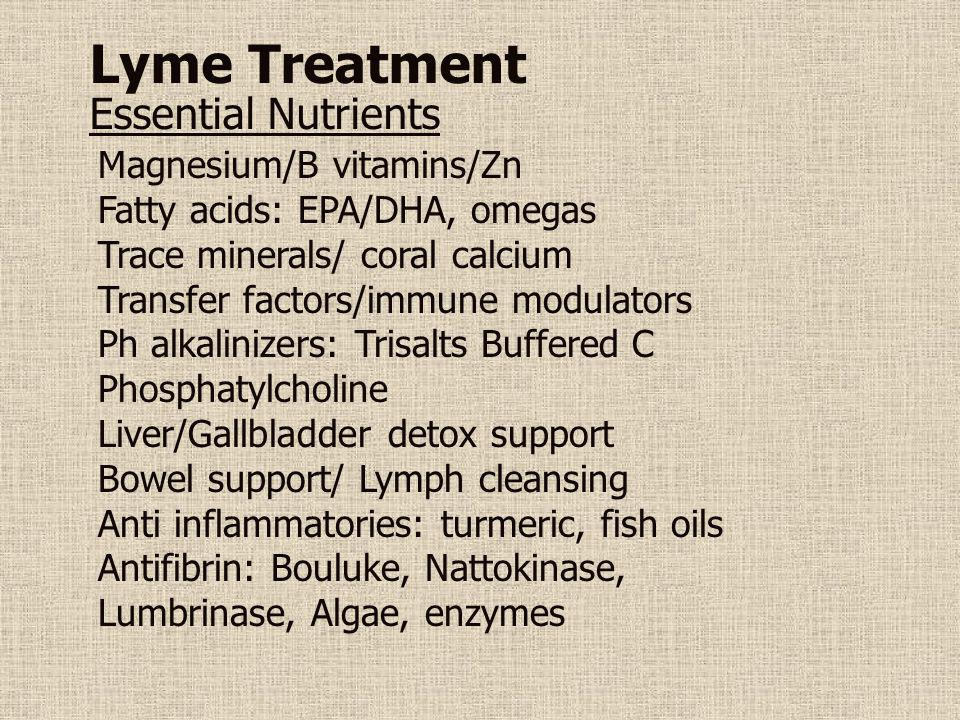 Lyme Treatment Essential Nutrients