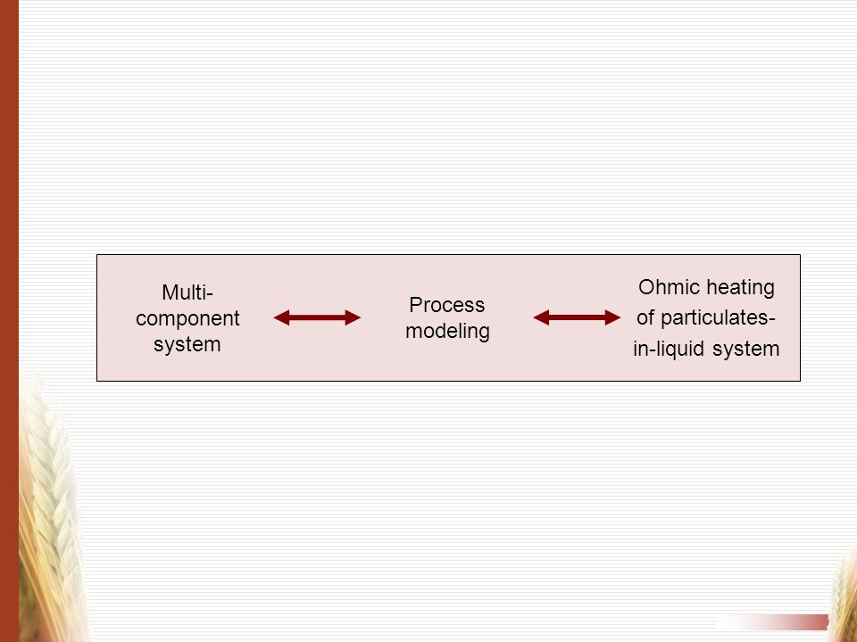 Multi-component system Process modeling
