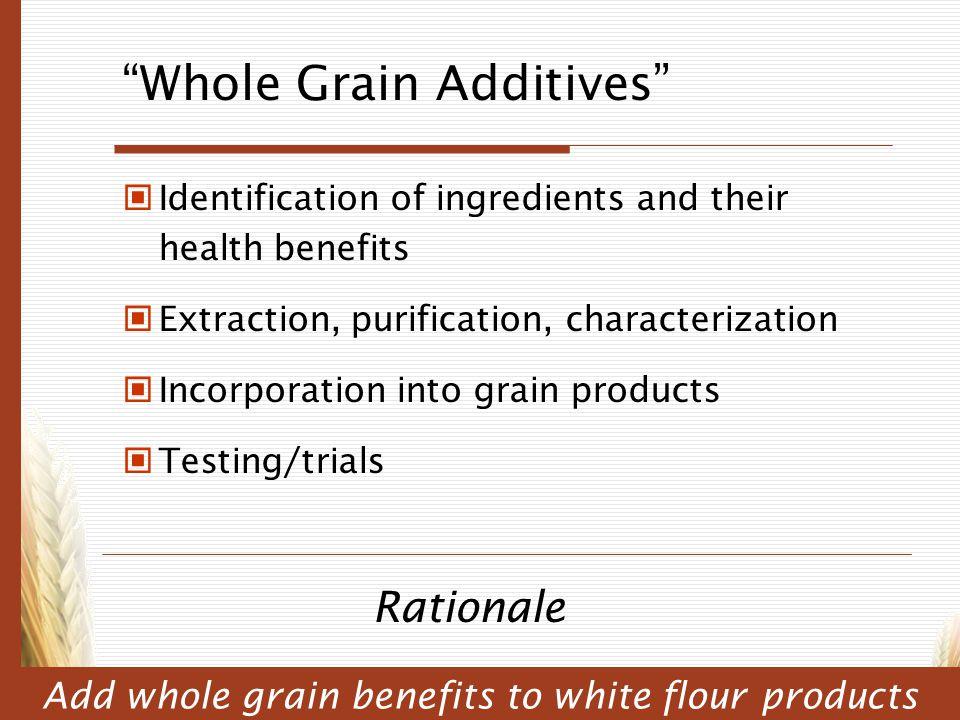Whole Grain Additives
