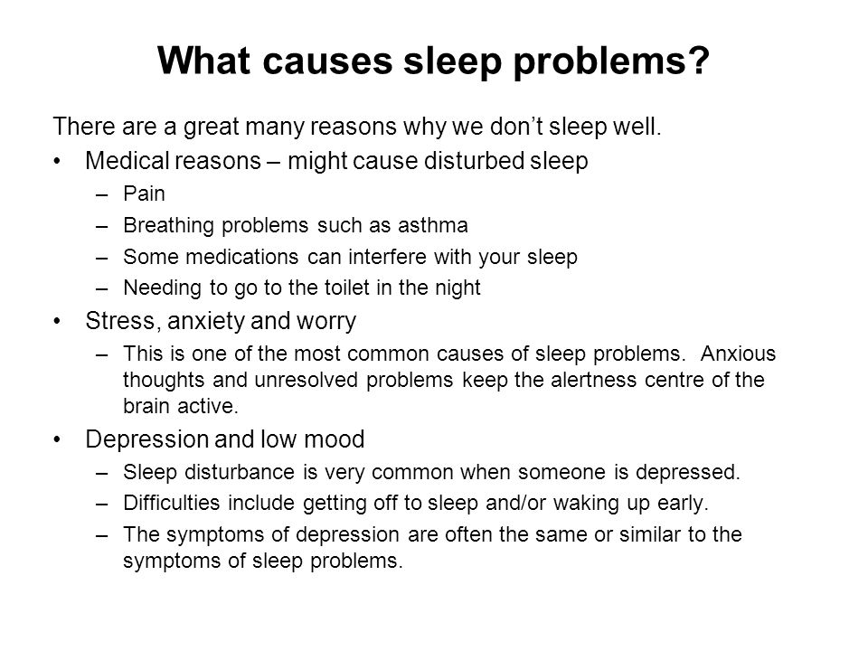 What causes sleep problems