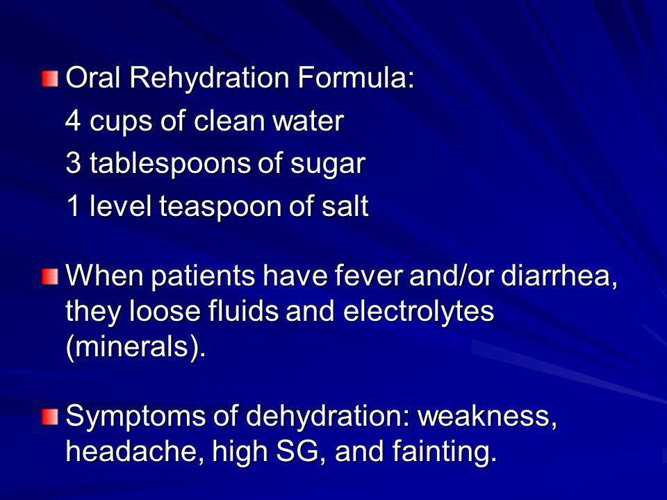 Oral Rehydration Formula: