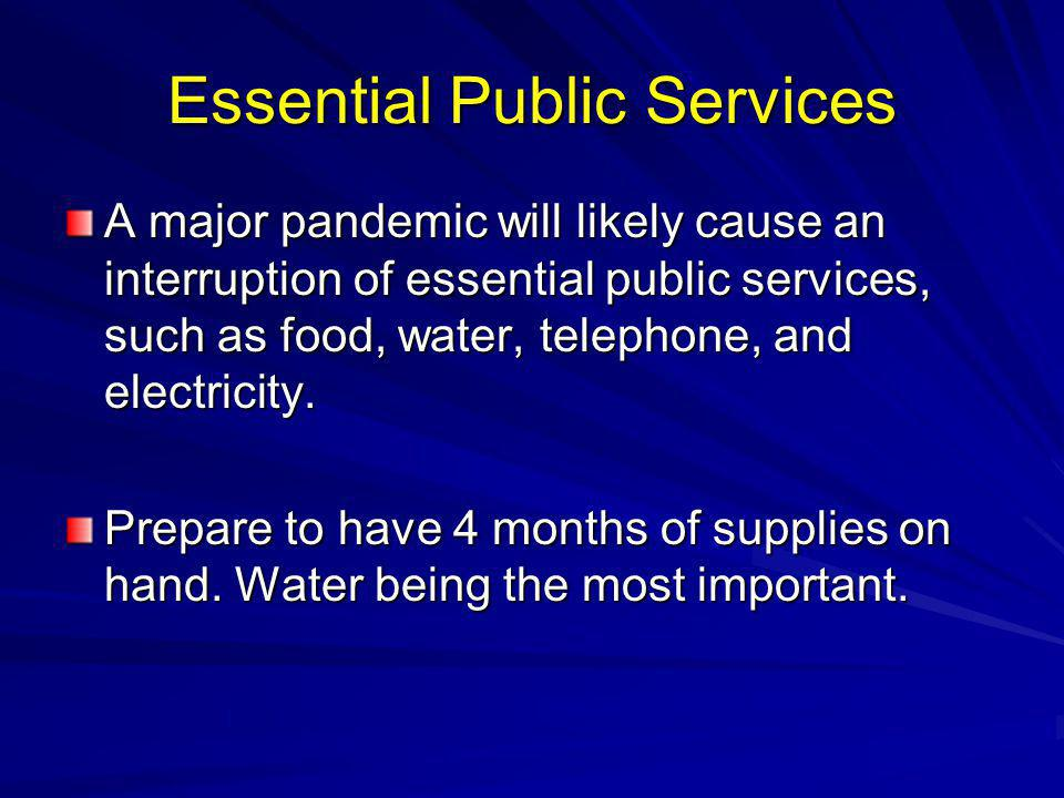 Essential Public Services
