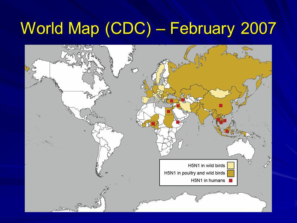 World Map (CDC) – February 2007