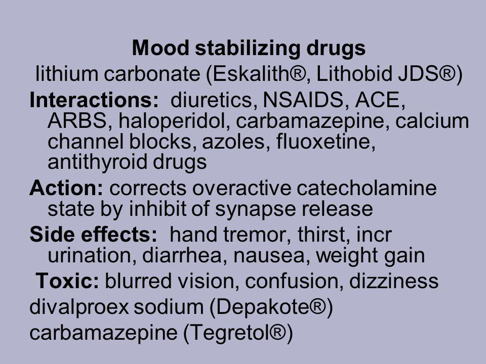 Mood stabilizing drugs