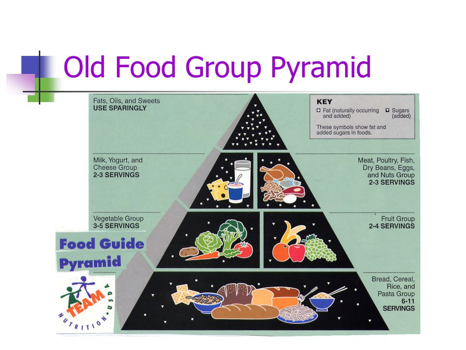 Old Food Group Pyramid