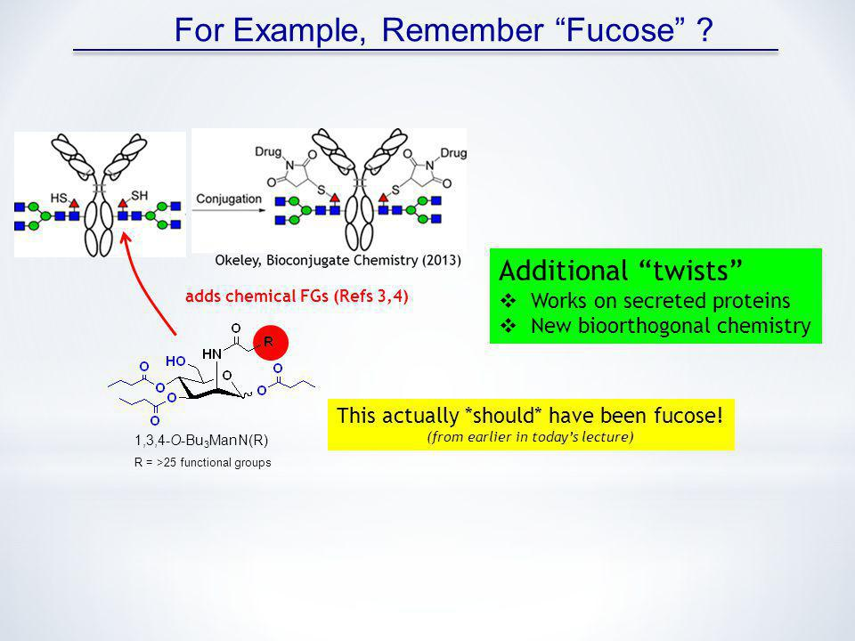 For Example, Remember Fucose