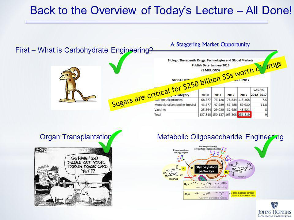 Back to the Overview of Today's Lecture – All Done!