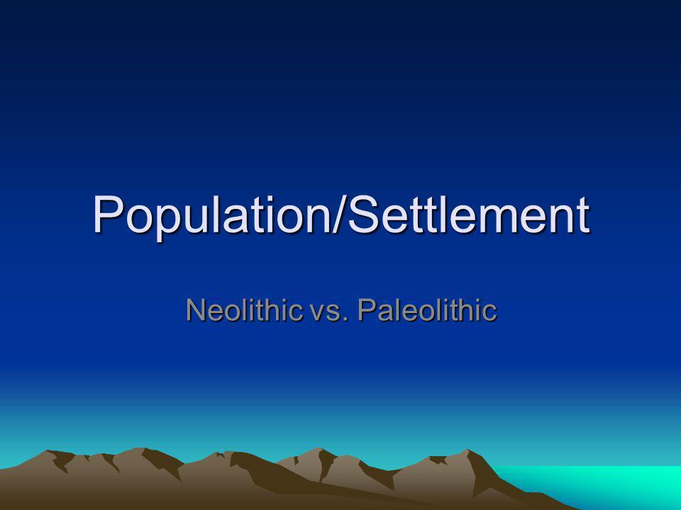 Population/Settlement
