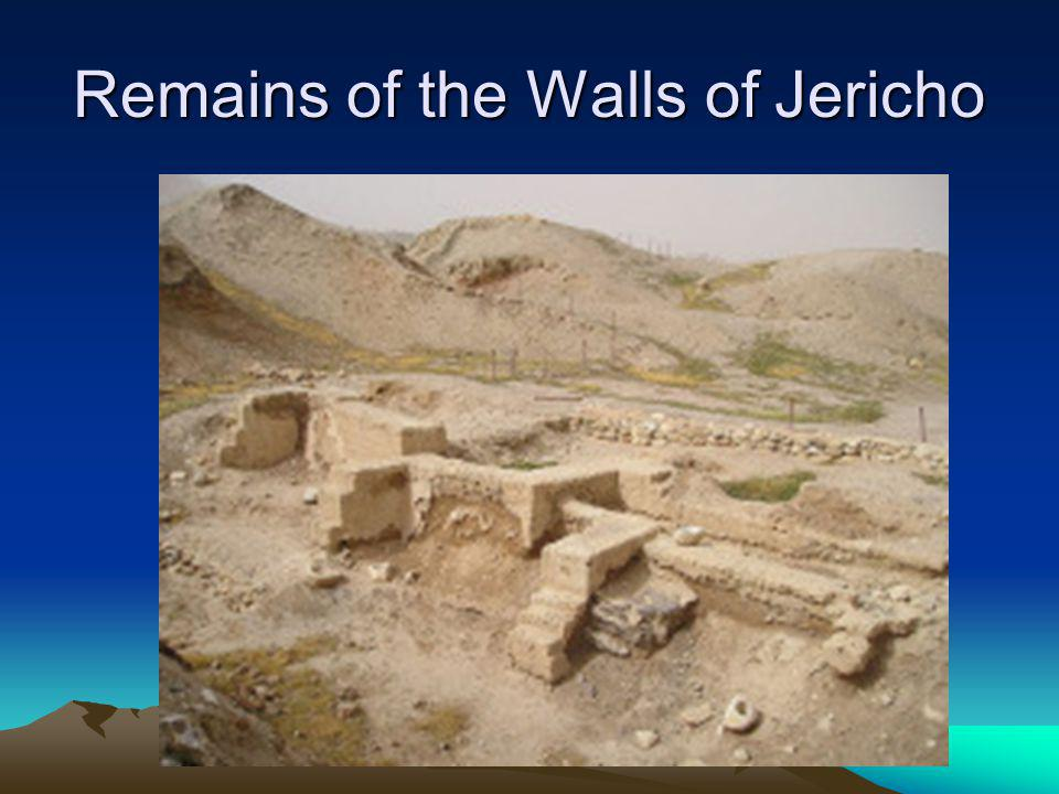 Remains of the Walls of Jericho