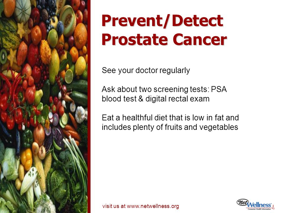 Prevent/Detect Prostate Cancer