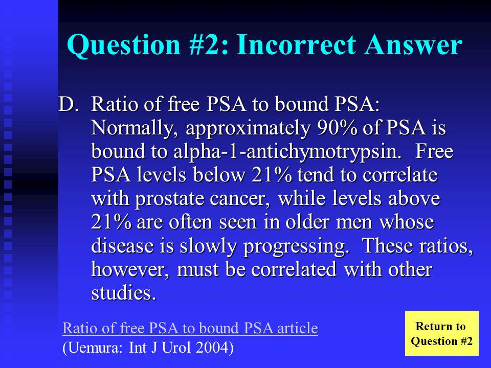 Question #2: Incorrect Answer