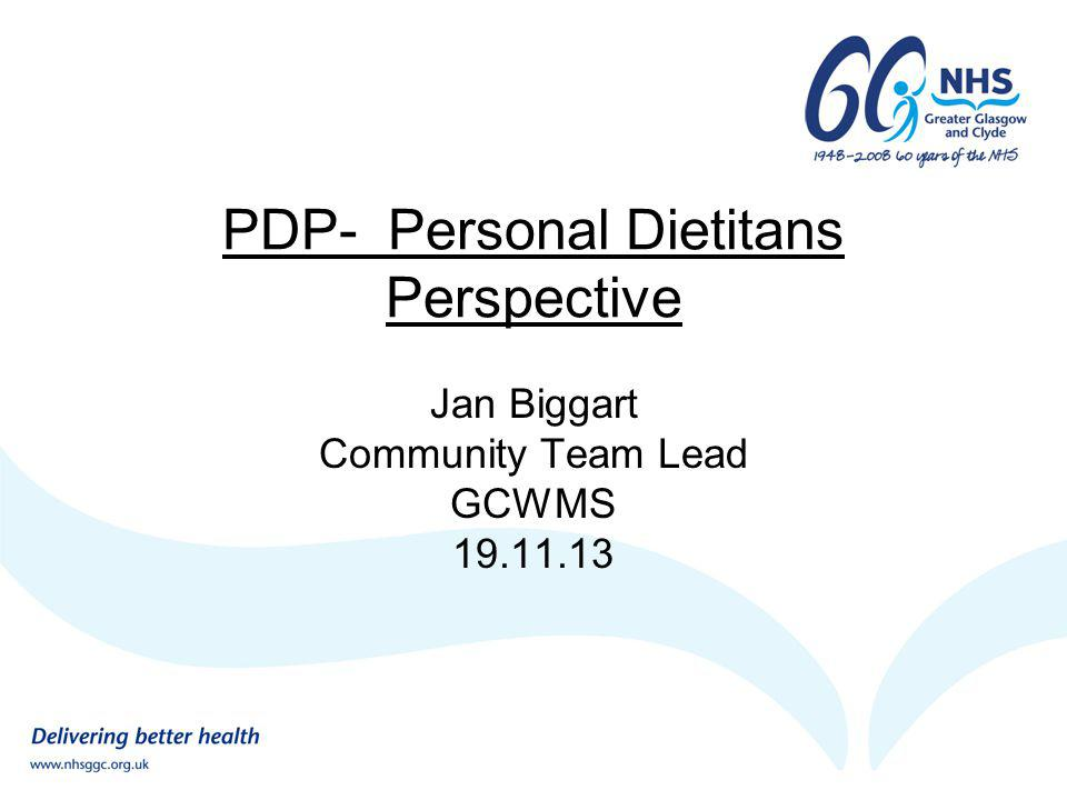PDP- Personal Dietitans Perspective