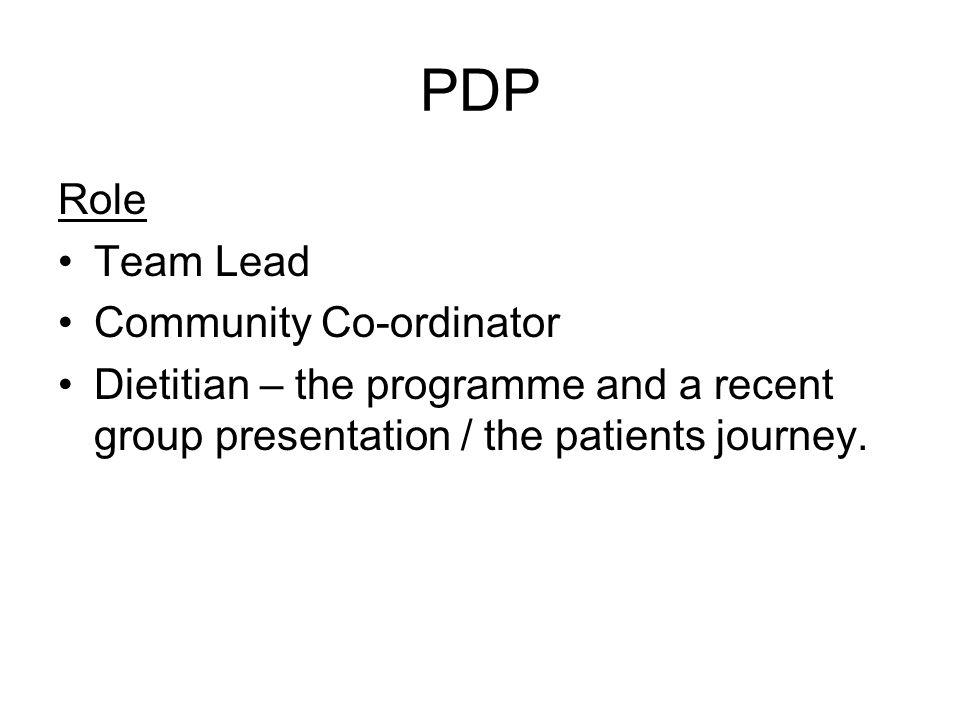 PDP Role Team Lead Community Co-ordinator